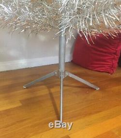Aluminum Christmas Tree Mid Century 7ft+ Tall Rare 135 Branches Silver Vintage