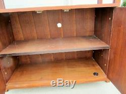 Beautiful Vintage MID Century Modern Walnut 50s 60s Wall Unit Shelves MCM