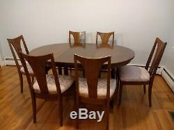 Broyhill Emphasis Dining Table Chairs Set Mid Century Modern Vintage Brasilia