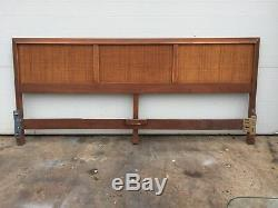 King Size Mid Century Cane Headboard Vintage