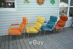 MCM Vintage Set of 4 Mid Century Modern Executive Lounge Chairs 1960s 1970s