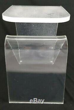 Mid-Century Acrylic Lucite Hollywood Regency End Table Vintage