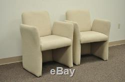 Pair Vintage Mid Century Modern Modernist Lounge Club Chairs Milo Baughman Era