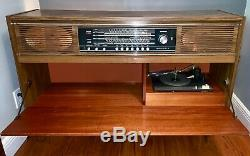 RARE Grundig Stereo Console Turntable Radio Mid Century Record Player Vintage