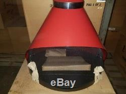 Retro Vintage Conical Sears Metal Electric Fireplace Mid Century Design