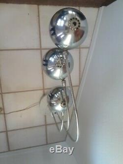 Robert Sonneman Style Vintage Midcentury Style Triple Eyeball Chrome Table Lamp