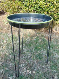 Set of 4 Vintage Mid Century Modern Eames Era Hairpin Plant Stand Tray