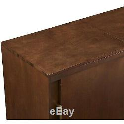 Turntable Console Cabinet Vintage Vinyl Record Player Storage Mid Century Table