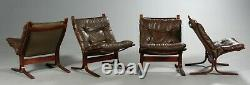 VINTAGE DANISH MID CENTURY 1 of 4 LEATHER SEISTA CHAIRS by INGMAR RELLING (1)