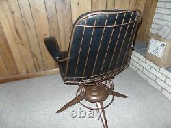 VINTAGE HomeCrest Mid Century Modern Wire Chair withpad Patio Dining HOMECREST