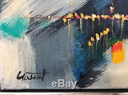 Vintage 1960's Mid Century Modern Abstract Expressionist Painting