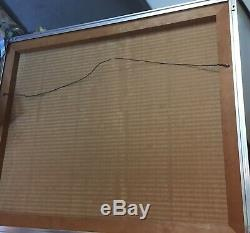 Vintage Bubble Mirror Mid-Century Mod OP Art MCM silvery Space Age Classic