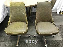 Vintage Chromcraft Dining Dinette Set Table & 4 Chairs with Leaf MCM Oval 4 Legs