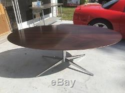 Vintage Florence Knoll Dining Table - desk mid century modern ROSEWOOD oval