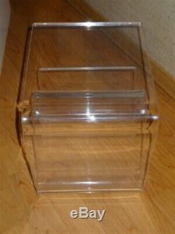 Vintage Mid Century Heavy Lucite Magazine Stand Cocktail Table