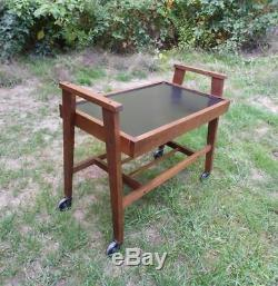 Vintage Mid Century Modern Rolling Bar Tea Serving Cart Tiered Stand Table 60's