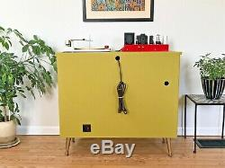Vtg 50s 60s HiFi Stereo Console Tube Record Player Mid Century Modern Jimmy O