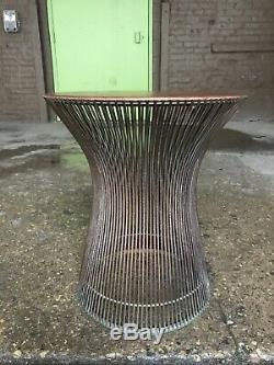 Warren Platner For Knoll Walnut Top Side Table As Is Mid Century Vintage